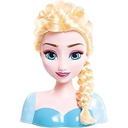 IMC Toys - 16149 - Disney - Tête à coiffer Elsa - 13 accessoires - Multicolore