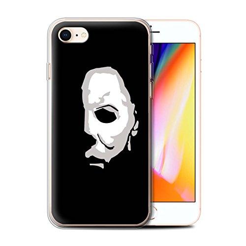 Stuff4® Gel TPU Hülle/Case für Apple iPhone 8 / Michael Myers Inspiriert Kunst Muster/Grusel Filmkunst Kollektion