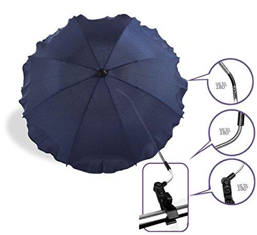 Baby Pram Pushchair Sun Parasol / Universal Umbrella Shade Canopy (Navy Blue)