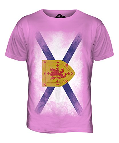 CandyMix Nova Scotia Verblichen Flagge Herren T Shirt Rosa