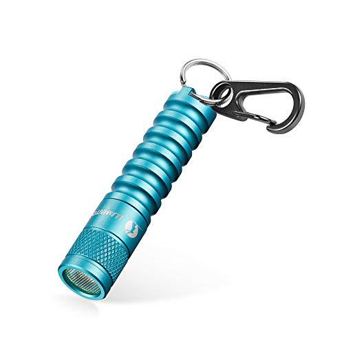 Kleine LED Taschenlampe LUMINTOP EDC01 Mini Handlampe mit Schlüsselanhänger 120 Lumen 3 Modi Einstellbar IP68 Wasserdicht Leichte Lampe für Kinder Jungen Outdoor Camping Wandern Notfall (Blau)