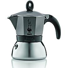 Bialetti 4822 Negro, Gris, Acero inoxidable moka pot - cafeteras italianas (Negro, Gris, Acero inoxidable)