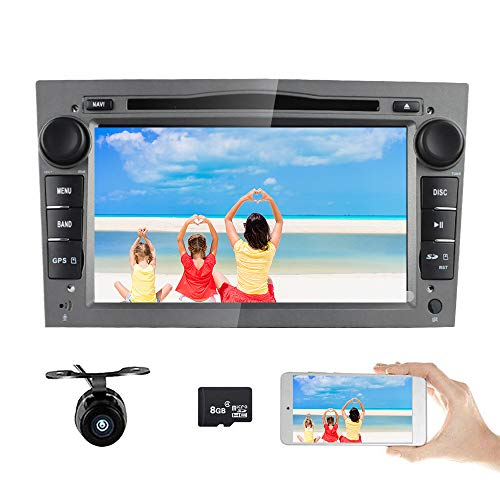 Freeauto 17,8 cm auto audio stereo doppio DIN in dash per Opel Corsa 2006 - 2011/Vectra 2005 - 2008/Antara 2006 - 2011/Vivaro 2006 - 2010 autoradio FM/AM radio stereo HD touch screen GPS Navigation