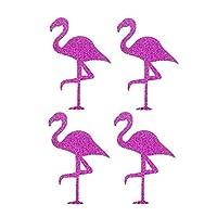 Toyvian 8pcs Adhesive Flamingo Sticker Glitter Sticker for Cup Body Window