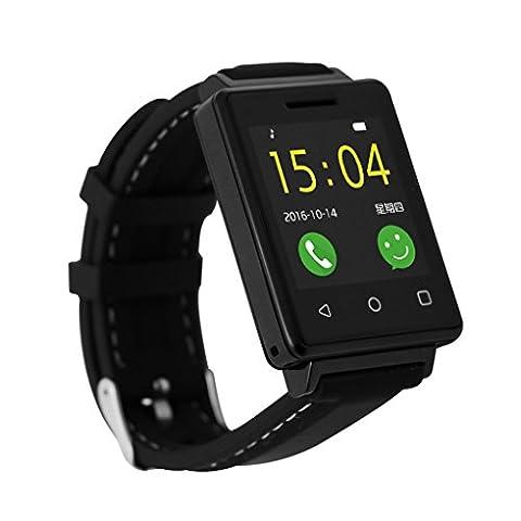 Sport Running SmartWatches, Tracker Erwachsenen für Android Samsung HTC, Tracker für Sport für Android Sony LG Huawei ZTE Oppo Xiaomi Leder Fitness Health Smartwatch