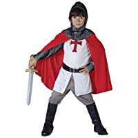 crociato inglese cavaliere costume età ragazzo 6 - 9