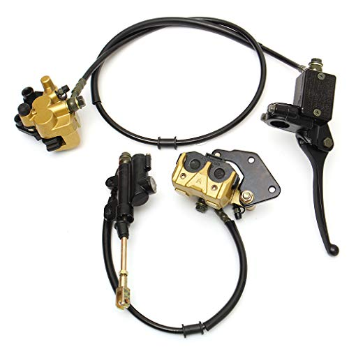 Jinzuke1Pair 12mm Hydraulische Vorne Hinten Scheibenbremssattel Lever Kompatibel für 50cc 110cc 125c Pit Bike -