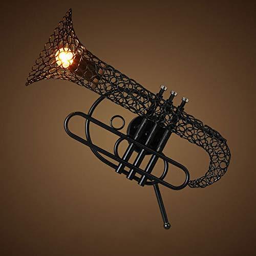 Liunce Industrielle Retro Metall Wand Leuchte Kreative Saxophon Eisen Wandleuchte Wandleuchte 1-Light Indoor Home Leuchte Bar Gang Schlafzimmer Wohnzimmer Nacht Laterne Edison E27