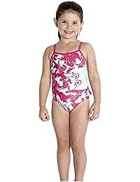Speedo Girl's Essential Frill 1 Piece Swimsuit