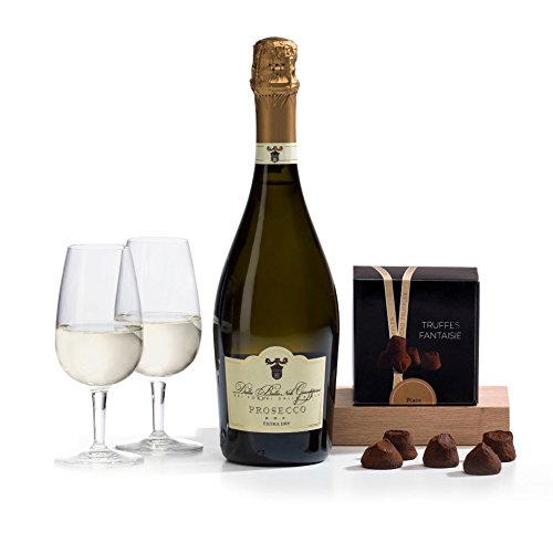 Hay Hampers Prosecco & Chocolate Truffles Gift Hamper Box for Valentine's
