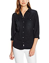Herrlicher Damen Bluse Lilien Denim Light