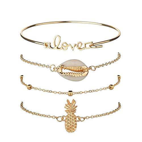 ZUOLUO Armband Seil Handkette Für Frauen Kette Stylish Paar Günstige Liebes Mädchen Bester Freund Fußkettchen Glücks-glücks-Armband Armbänder