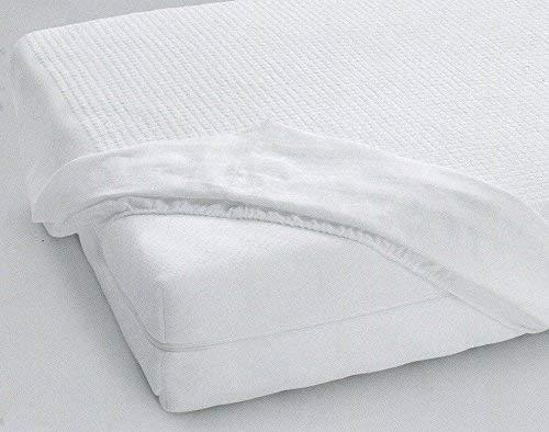 Gabel Jersey Coprimaterasso, Cotone, Bianco, 125 x 200 x 0.4 cm