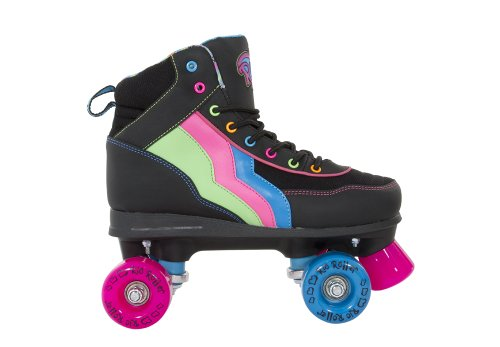 Rio Roller Classic II Passion Quads Rollschuhe Disco Roller schwarz-pink passion, 42 -