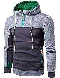 Sudadera con Capucha Sudadera Sudadera con Capucha con Ropa Capucha Sport Sweat Jacket Longsleeve Patchwork Outwear