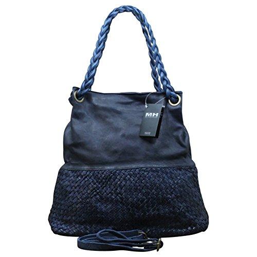My-Musthave , Cabas pour femme gris gris Centre bleu