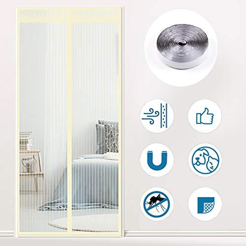 """GettyGears Verstärkter magnetischer Fensterschutz-Netzstoff gegen Fliegen, Mücken, Insektenvorhang mit Magneten für Fenster und Tür, kompletter Rahmen, kein Bohren 59\"""" x 86\"""" Inch gelb"""