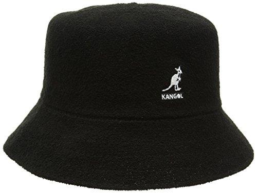 Kangol Unisex Bermuda Bucket Fischerhut, Schwarz, Large Mütze Schwarz Hut