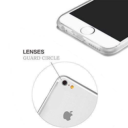 iPhone 6S Plus Transparente Case Cover,MingKun Ultra Mince Transparente TPU Bumper iPhone 6 Plus 5.5 pouces Soft TPU Silicone Clair Transparente Case Cover pour iPhone 6 Plus Clair Étui Housse Ananas  Picture-9