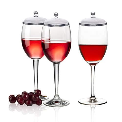 Wein Glasdeckel Tasse Abdeckungen Cup Deckel Schalen Deckel Becher Abdeckung Tasse Deckel Drink Bezug Set von 2 Halten Sie die Bugs und Staub aus Edelstahl