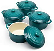 Mini Casserole Dish, Ceramic Make, Easy to Lift Lid, Set of 4,