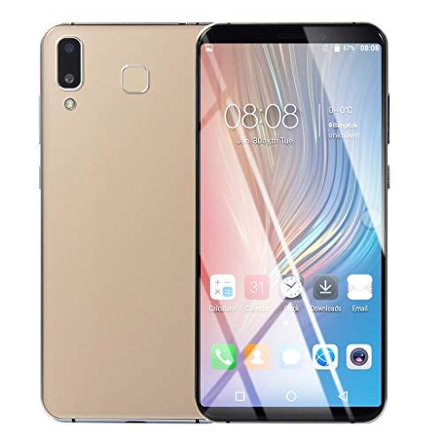 Fuibo Smartphone Günstig Handy 6.1 Zoll Ultra Android 6.0 Quad-Core 1 GB + 8 GB GSM WiFi Dual SIM Smart Mobiltelefon, Stereo-Lautsprecher, Kapazitiver Touchscreen (Gold) Touch Mobile Handy
