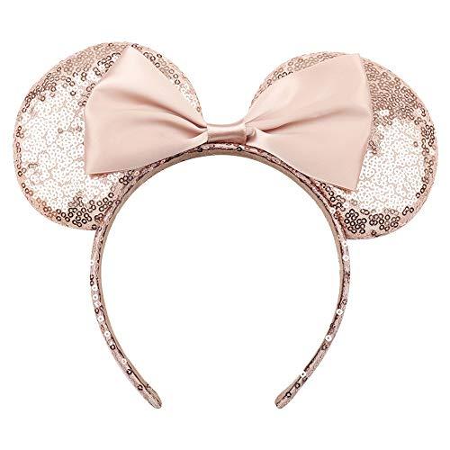 Minnie Kind Pailletten Ohren - TOUSHI Haar Zubehör Kopfbedeckung Haarband Pailletten