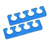 Silikon Zehenspreizer - 2 Stück Packung - Farbe: blau - Fingerspreizer