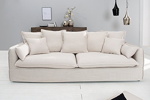 Invicta Interior 22689 Sofa 3er Heaven 215 cm weiß