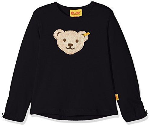 Steiff Baby-Mädchen Langarmshirt T-Shirt 1/1 Arm, Blau (Marine|Blue 3032), 80