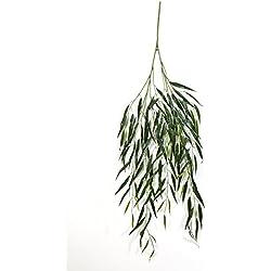 Artplants Rama de Sauce llorón Artificial XL Talin con 130 Hojas Verdes, 130cm - Planta Textil/árbol