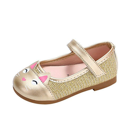 Sonnena Einzelne Schuhe Kleinkind Niedlich Schuhe Kinderschuhe Mädchen Karikatur Katze Schuhe Mädchen Lederschuhe Leichtgewicht Rutschfeste Prinzessin Schuhe Shoes