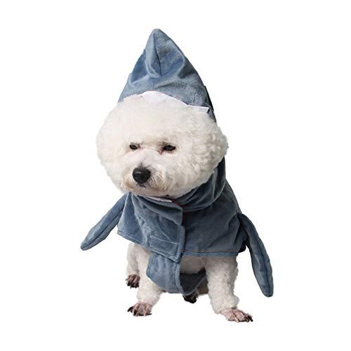 Balacoo Hund Hai Kostüme-lustige Hund Outfits Haustier Halloween Weihnachten Cosplay Kleid entzückende Tier Hund Hoodie Hund warme Outfits Kleidung Größe - Blau Hai Kostüm Für Katzen
