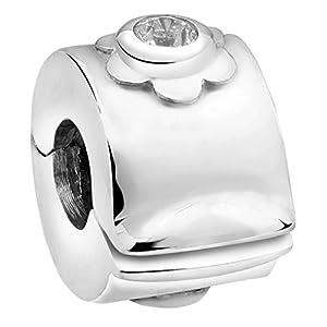 Nenalina Stopper für Beads-Armband, auch kompatibel für Pandora Beads Armbänder 718908-019