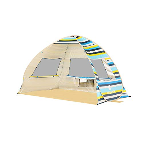 Qnlly UV-Schutz Strand Zelt Sonnenschutz Baldachin Leichte Outdoor Camping Zelt Sun Shelter Camping Angeln Zelt Unterstände,02