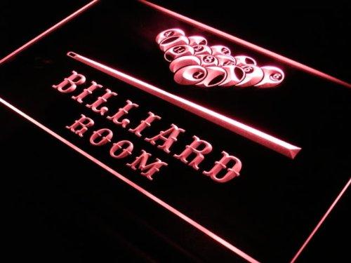 Insegna al neon s082-r Billiard Pool Room
