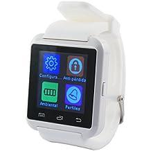"Ksix BXSW02 - Smartwatch (1.44"",TFT,  Bluetooth, alarma anti-perdida), color blanco"