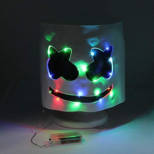 DJ Kopf Cotton Candy DJ Kopf Marsh Mello Kopfmaske für Halloween ()