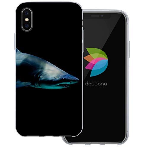 dessana Unter Wasser Welt transparente Schutzhülle Handy Case Cover Tasche für Apple iPhone XS Shark - Wasser Shark