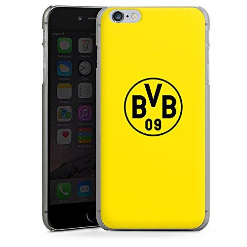 Apple iPhone 7 Silikon Hülle Case Schutzhülle Borussia Dortmund BVB Logo gelb Hard Case anthrazit-klar
