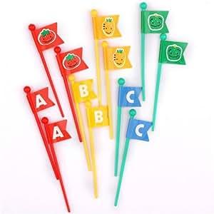 stecchini ortaggi ABC bandierine per Bento Box