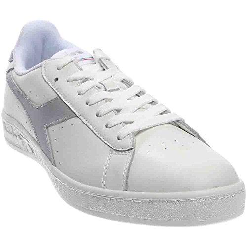 Diadora Unisex-Erwachsene Game L Low Waxed Pumps, 36 EU White/Gray Violet/White