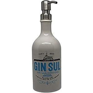 Dekoflasche – Dekospender Gin Sul – origineller Seifenspender Seifenspender mit Pumpknopf I Dekospender mit Flüssigseife modern I Flaschenspender Seifenwasser Seifenschaum