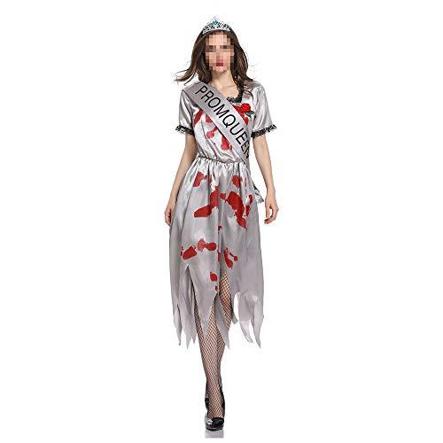 kMOoz Halloween Kostüm,Outfit Für Halloween Fasching Karneval Halloween Cosplay Horror Kostüm,Halloween Kostüm Ghost Bride Cos Zombie Cosplay Makeup - Stellen Sie Zombie Kostüm