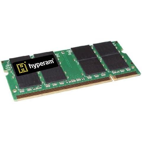 Hypertec HyperRam - Memoria SODIMM DDR2 (1 GB, 667MHz, PC2-5300, CL5, sin ECC, 200 pines)