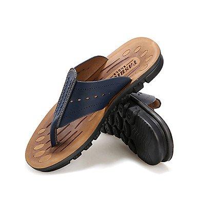 Slippers & amp da uomo;Primavera Estate Autunno PU comfort casual sandali piani del tallone sandali US9.5 / EU42 / UK8.5 / CN43