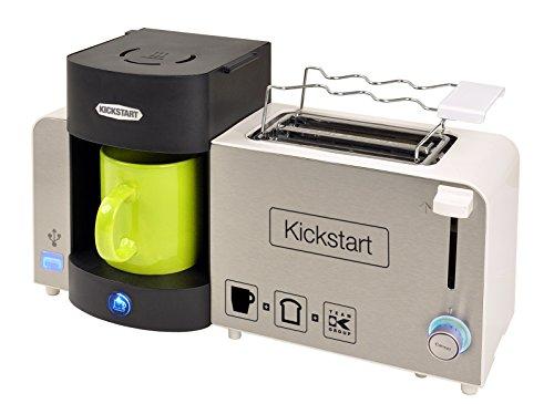 Team-Kalorik-Group TKG BSET 1000 3-in-1 Frühstücks Set, Toaster/Kaffeeautomat / USB-Ladestation