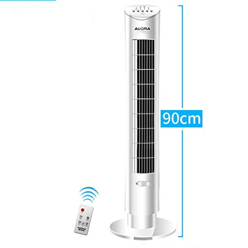 High Velocity Cooling Fan (Tower Fans, afafless Mute Tower Fans, Wide Area Cooling und Low Noise Air Circulator Fan, Tower Fans Oscillating Quiet, für Home and Office,White,remotecontrol)