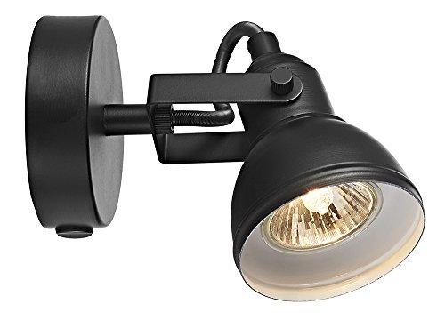 Lumière murale Unique Industriel design Noir mate Light spot Switched Wall par Happy Homewares