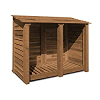 Cottesmore 4ft Log Store/garden Storage, Brown, Heavy Duty, Hand Made, Pressure Treated.